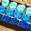 cheap 18Pcs 3  -  Color Rose Soap Flowers with Romantic Hardcover Box Birthday / Christmas / Wedding Gift