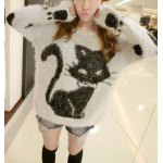 Mohair Fuzzy Cat Sweater