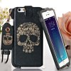cheap Jiong Bear Skull Pattern PU + PC 5.5 inch Phone Cover Case Skin with Lanyard for iPhone 6 Plus