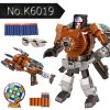 cheap No.K6018 Super Cool The Armoured X - men Deformation Shooting Gun Assembly Transformers Robot Pistol Toy with Soft EVA Bullet New Year Gift