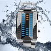 kasi 7003 Waterproof 3D LED Watch with Zinc Alloy Band Time Date Week Display deal