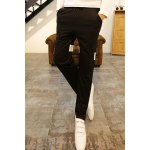Buy Sports Style Lace-Up Personality Letters Print Loose Fit Color Block Narrow Feet Men's Harem Pants M