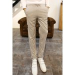 Buy Sports Style Lace-Up Personality Letters Print Loose Fit Color Block Narrow Feet Men's Harem Pants 2XL LIGHT GRAY