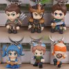 Buy / Lot Fashion LOL League Legends Keychain Character Model Key Ring Player COLORFUL