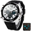 Buy Hpolw 606 Military Sports LED Watch Multifunction 30M Water Resistant Double Time WHITE