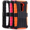 best Practical Tyre Texture TPU and PC Back Case Cover with Stand for LG Optimus G2