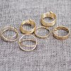 cheap 6PCS of Chic Women's Round Solid Color Rings
