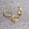6PCS of Chic Women's Round Solid Color Rings deal