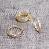 6PCS of Chic Women's Round Solid Color Rings for sale