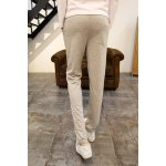 Buy Loose Fit Stylish Lace-Up Badge Letter Print Narrow Feet Cotton Blend Sweatpants Men XL LIGHT GRAY