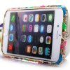 cheap Fashionable Metal Bumper Frame Case of Diamond Design for iPhone 6  -  4.7 inches