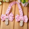 Bowknot Pattern Baby Bib Clip for Infant Feeding Nursing Drool Use for sale