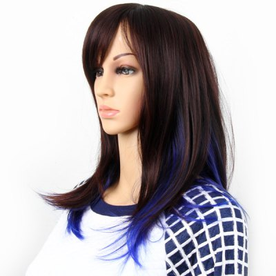 Highlight Women Medium Hair Periwig Hairpiece Wig  -  Reddish Brown and BlueParty Supplies<br>Highlight Women Medium Hair Periwig Hairpiece Wig  -  Reddish Brown and Blue<br><br>Category: Wig<br>Style: Popular, Charming<br>Color: Assorted Colors<br>Season: All Seasons<br>Occasion: Outdoor, Holiday, Daily, Causal, Party<br>Application: Head<br>Product weight   : 0.184 kg<br>Package weight   : 0.24 kg<br>Package size (L x W x H)  : 26 x 19 x 4 cm<br>Package Contents: 1 x Hairpiece Wig