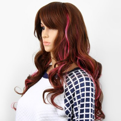 Highlight Women Curly Long Hair Periwig Hairpiece Wig with Fringe  -  Brown and PinkParty Supplies<br>Highlight Women Curly Long Hair Periwig Hairpiece Wig with Fringe  -  Brown and Pink<br><br>Category: Wig<br>Style: Popular, Charming<br>Color: Assorted Colors<br>Season: All Seasons<br>Occasion: Outdoor, Holiday, Daily, Causal, Party<br>Application: Head<br>Product weight   : 0.24 kg<br>Package weight   : 0.33 kg<br>Package size (L x W x H)  : 27 x 18 x 6 cm<br>Package Contents: 1 x Hairpiece Wig