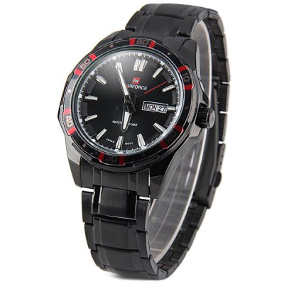 Naviforce 9036 Military Watches Japan Quartz Watch Date Day Water Resistant for MenMens Watches<br>Naviforce 9036 Military Watches Japan Quartz Watch Date Day Water Resistant for Men<br><br>Watches categories: Male table<br>Watch style: Military<br>Available color: Black, Red<br>Movement type: Quartz watch<br>Shape of the dial: Round<br>Display type: Analog<br>Case material: Stainless steel<br>Band material: Stainless steel<br>Clasp type: Folding clasp with safety<br>Band color: Black<br>Special features: Date, Day<br>Water Resistance: 30 meters<br>The dial thickness: 1.0 cm / 0.4 inches<br>The dial diameter: 4.5 cm / 1.8 inches<br>The band width: 2.0 cm / 0.8 inches<br>Product weight: 0.125 kg<br>Product size (L x W x H): 16 x 4.5 x 1.0 cm / 6.3 x 1.8 x 0.4 inches<br>Package Contents: 1 x Watch