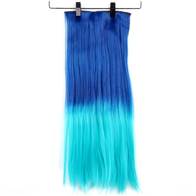 Gradient Color Long Periwig Straight Haircut for Ladies