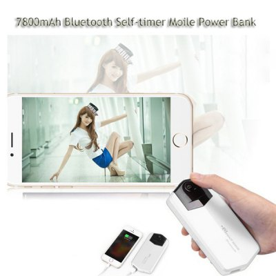 Гаджет   Waitsee 7800mAh Bluetooth Self-timer Mobile Power Bank Lithium Polymer External Battery Charger 5.1V 2.1A USB Output with Auto Standby iPhone Power Bank