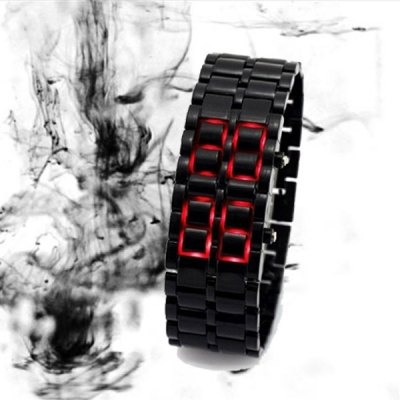 Гаджет   LED Sports Bracelet Watch with Candy Color Rubber Lava Band
