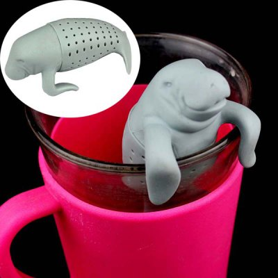 Novel Teabags Seal Style Silicone Tea Strainer Filter Home Office Gadget