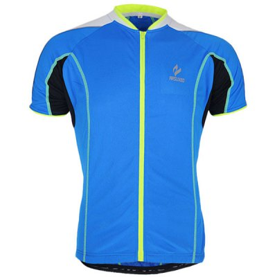 Arsuxeo 668 Cycling Jersey Short Sleeve Sweatshirt Bike Bicycle Outdoor Racing Running ClothesCycling Clothings<br>Arsuxeo 668 Cycling Jersey Short Sleeve Sweatshirt Bike Bicycle Outdoor Racing Running Clothes<br><br>Type: Cycling Jerseys<br>Brand Name: Arsuxeo<br>Model Number: 668<br>For: Unisex<br>Material: Polyester<br>Functions: Quick-drying, Soft, Breathable<br>Suitable for : Road Bike, Electrombile, Bike, Motorbike, Mountain Bicycle<br>Color: Red, Blue, Green<br>Size: L, M, XL, XXL<br> Product weight : 0.220 kg<br>Package weight : 0.250 kg<br>Package size (L x W x H)  : 25 x 22 x 2 cm<br>Package Contents: 1 x Cycling Jersey