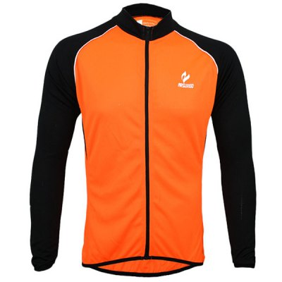 Arsuxeo 6020 UV Protective Men Cycling Jersey Long Sleeve Bike Bicycle Outdoor Racing Running ClothesCycling Clothings<br>Arsuxeo 6020 UV Protective Men Cycling Jersey Long Sleeve Bike Bicycle Outdoor Racing Running Clothes<br><br>Type: Cycling Jerseys<br>Brand Name: Arsuxeo<br>Model Number: 6020<br>For: Man<br>Material: Polyester<br>Functions: Quick-drying, Soft, Breathable<br>Suitable for : Mountain Bicycle, Road Bike, Electrombile, Bike, Motorbike<br>Color: Orange, Blue, Green<br>Size: M, L, XL, XXL<br> Product weight : 0.245 kg<br>Package weight : 0.300 kg<br>Package size (L x W x H)  : 27 x 23 x 2 cm<br>Package Contents: 1 x Cycling Jersey