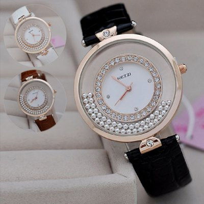 Kezzi KJ292 Moveable Diamond Women Quartz Watch Japan