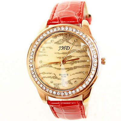 JHD 1194 Round Quartz Watch for Female