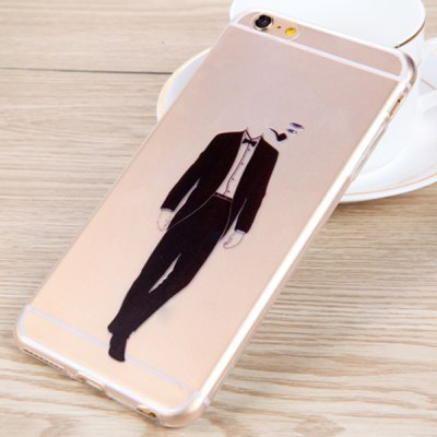 Гаджет   Practical Smoking Man Pattern 0.33mm Ultrathin Transparent TPU Back Case for iPhone 6 Plus  -  5.5 inches iPhone Cases/Covers