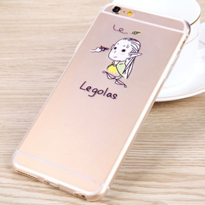 Гаджет   Practical Legolas Pattern 0.33mm Ultrathin Transparent TPU Back Case for iPhone 6  -  4.7 inches iPhone Cases/Covers