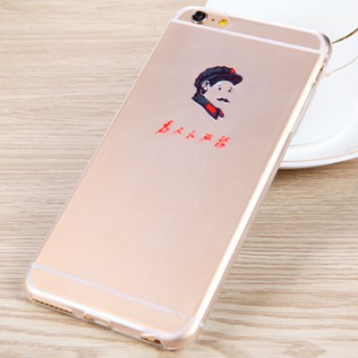 Гаджет   Practical Lei Feng Pattern 0.33mm Ultrathin Transparent TPU Back Case for iPhone 6  -  4.7 inches iPhone Cases/Covers