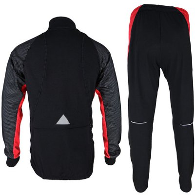 Гаджет   Arsuxeo 14A Men Cycling Racing Suit Fleeces Jacket Pants Kit Long Sleeve Bike Bicycle Outdoor Running Clothes Cycling Clothings
