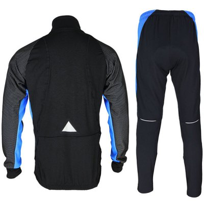 Купить Cycling Clothings   Arsuxeo 14A Men Cycling Racing Suit Fleeces Jacket Pants Kit Long Sleeve Bike Bicycle Outdoor Running Clothes