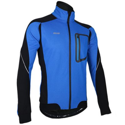 Гаджет   Arsuxeo 14D Fleeces Cycling Jacket Wind Coat Long Sleeve Bike Bicycle Outdoor Racing Running Clothes Cycling Clothings