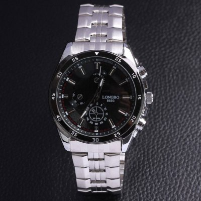 Longbo 8693 Round Quartz Water Resistant Watch for Male
