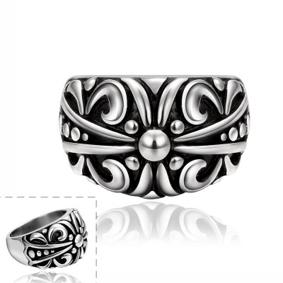 Stylish Flower Pattern Carved Ring For MenMens Jewelry<br>Stylish Flower Pattern Carved Ring For Men<br><br>Gender: For Men<br>Metal Type: Others<br>Style: Trendy<br>Shape/Pattern: Others<br>Metal Color: Antique Silver Plated<br>Weight: 0.060KG<br>Package Contents: 1 x Ring