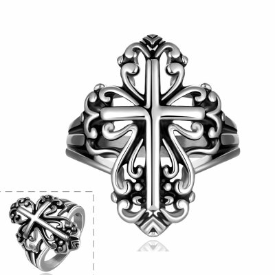 Stylish Cross Pattern Ring For MenMens Jewelry<br>Stylish Cross Pattern Ring For Men<br><br>Gender: For Men<br>Metal Type: Others<br>Style: Trendy<br>Shape/Pattern: Cross<br>Metal Color: Antique Silver Plated<br>Weight: 0.060KG<br>Package Contents: 1 x Ring