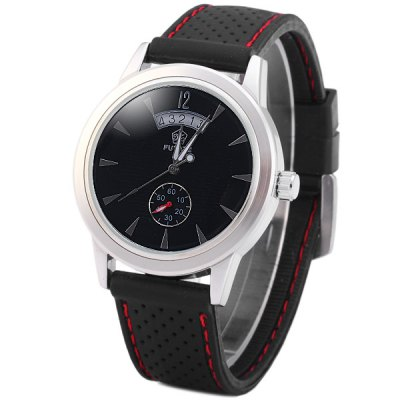 ФОТО Yuyate Male Automatic Mechanical Watch Rubber Band with Date Function