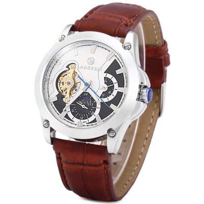 Гаджет   Laogeshi 227A Mechanical Tourbillon Watch Moon Phase Automatic Wristwatch for Men Men