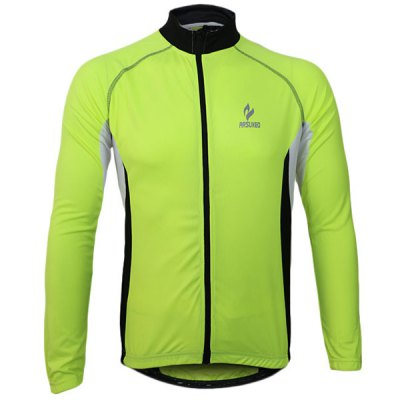 Arsuxeo 60028 Breathable Men Cycling Jersey Long Sleeve Bike Bicycle Outdoor Sports Running Clothes