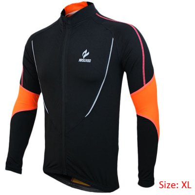 Arsuxeo 130021 Breathable Men Cycling Jersey Long Sleeve Bike Bicycle Outdoor Sports Running Clothes