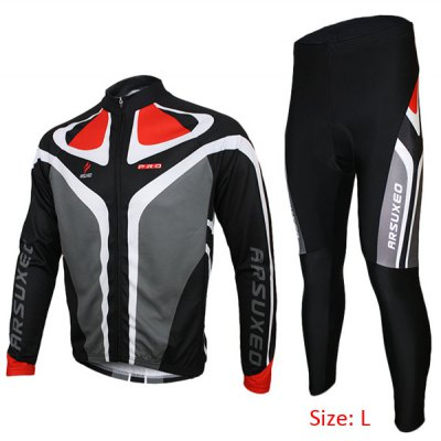 Arsuxeo C02 Male Biking Racing Suit Jersey Jacket Pants Long Sleeve Sportswear