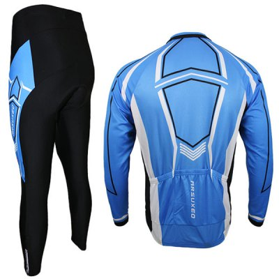 Arsuxeo C03 Men Cycling Suit Jersey Jacket Pants Kit Long Sleeve Bike Bicycle Outdoor Running Clothes