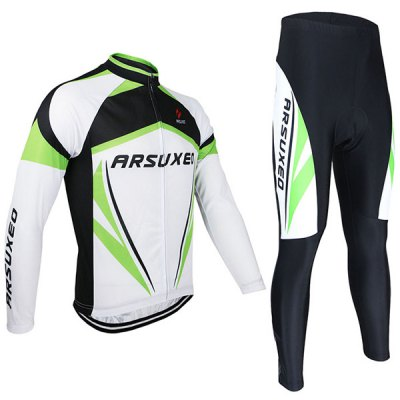 Гаджет   Arsuxeo ZLS06V Men Cycling Suit Jersey Jacket Pants Kit Long Sleeve Bike Bicycle Outdoor Running Clothes Cycling Clothings