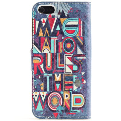 Гаджет   Graffiti Cross Letters Pattern Foldable Magnetic PU Case for iPhone 5 / 5S iPhone Cases/Covers