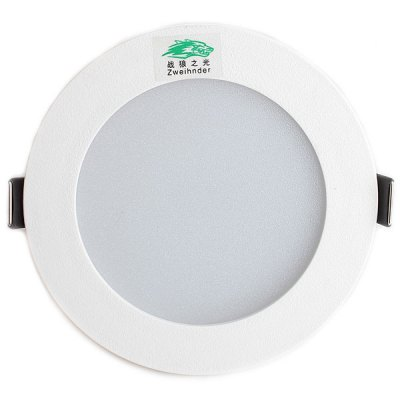 Zweihnder 7W 18 SMD 5730 600Lm 5500  -  6000K Recessed Wiring LED Ceiling Panel LampIndoor Lights<br>Zweihnder 7W 18 SMD 5730 600Lm 5500  -  6000K Recessed Wiring LED Ceiling Panel Lamp<br><br>Type: Recessed Down Lights, Ceiling Lights<br>Light color: Cold White<br>Luminance (Lm): 600Lm<br>LED Number(s): 18 SMD-5730 LED<br>Wattage (W): 7<br>Voltage (V): AC 220-240<br>Features: Wiring<br>Sheathing material: Plastic<br>Product Weight: 0.066 kg<br>Package weight: 0.107 kg<br>Product size (L x W x H): 11 x 11 x 4.4 cm / 4.33 x 4.33 x 1.73 inches<br>Package size (L x W x H): 12.6 x 12.6 x 7 cm<br>Package Contents: 1 x Zweihnder 7W 18 SMD 5730 600Lm LED Ceiling Lamp