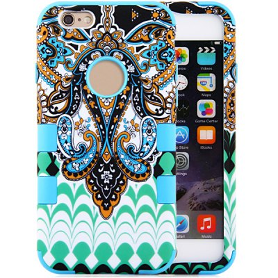 ФОТО Flower Texture Pattern Silicone and PC Material Back Case Cover for iPhone 6 Plus  -  5.5 inches