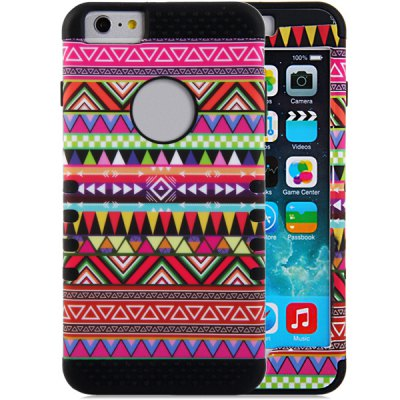 ФОТО Triangle Pattern Silicone and PC Material Back Case Cover for iPhone 6 Plus  -  5.5 inches