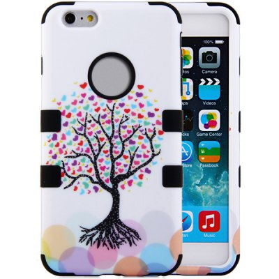 ФОТО Tree Pattern Silicone and PC Material Back Case Cover for iPhone 6 Plus  -  5.5 inches