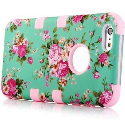 ФОТО Flower Pattern Silicone and PC Material Back Case Cover for iPhone 6 Plus  -  5.5 inches