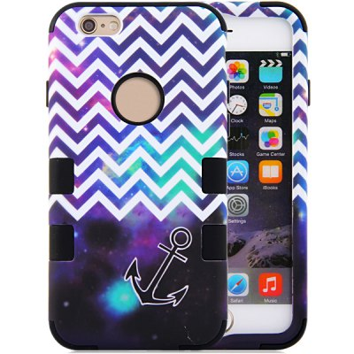 Arrow Pattern Silicone and PC Material Back Case Cover for iPhone 6  -  4.7 inches